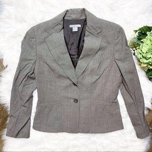 • Ann Taylor 100% Wool Brown Office Career Blazer